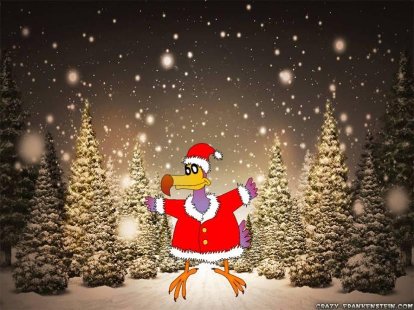A Natale, il dodo vola solo in slitta. Immagine di Francesco Lami, colori Matteo Vecchi