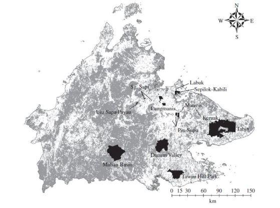 La mappa delle aree prese in considerazione dallo studio, giusto perché un'immagine seria ogni tanto me la concedo. Immagine Hill et al.