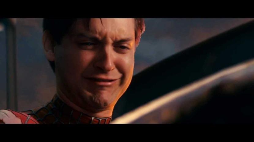 L'espressione di Spider-Man quando ha scoperto di non essere l'unico caso di trasferimento genico orizzontale. Screenshot da Youtube